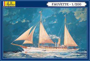 โมเดลเรือเดินสมุทร Heller HL80612 1893 Sailing Yacht Fauvette 1/200