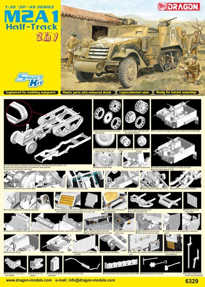 DR6329 M2A1 HALF-TRACK 2 IN 1 1/35
