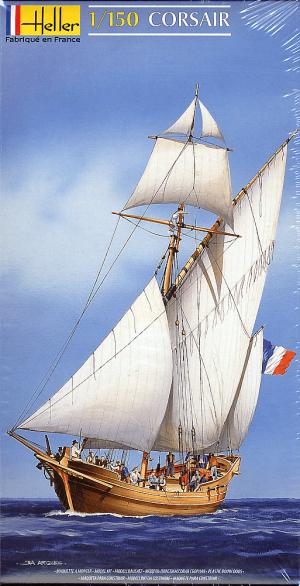 โมเดลเรือเดินสมุทร Heller HL80616 Le Corsair 1/150