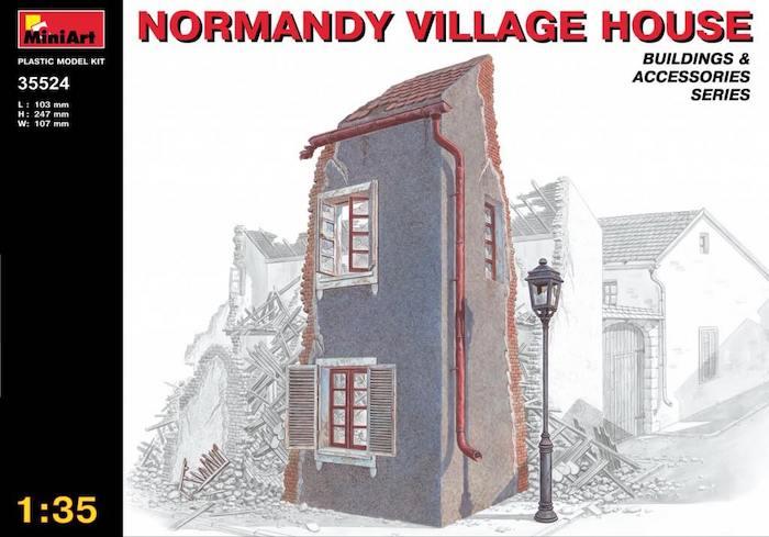 โมเดลฉากจำลอง MiniArt MI35524 NORMANDY VILLAGE HOUSE 1/35