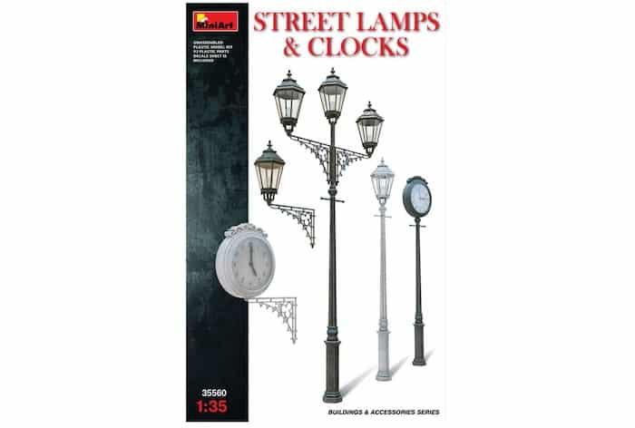 โมเดลมินิอาร์ท MiniArt MI35560 STREET LAMPS & CLOCKS 1/35