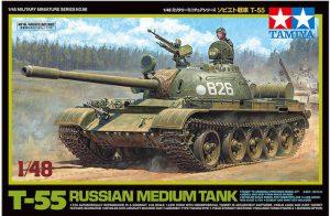 โมเดลรถถัง TAMIYA 32598 T-55 RUSSIAN MEDIUM TANK 1/48