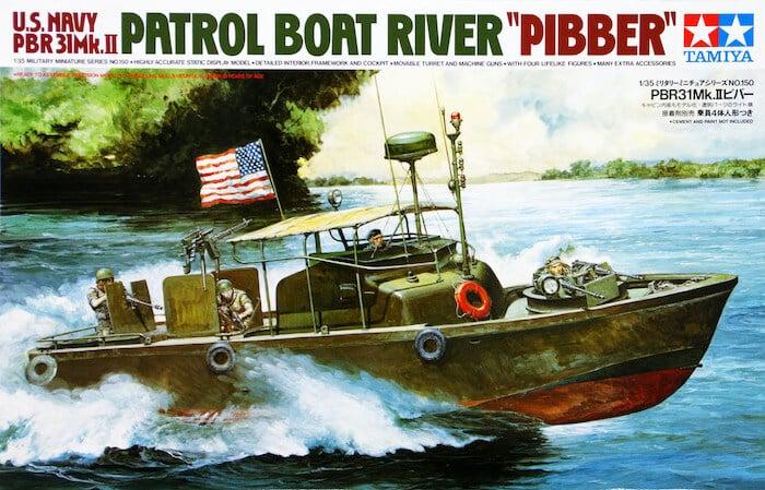 โมเดลเรือตรวจการณ์ลำน้ำ Patrol Boat River U.S. PBR Pibber 1/35
