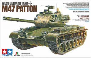 รถถังทามิย่า TAMIYA 37028 WEST GERMAN TANK M47 PATTON 1/35