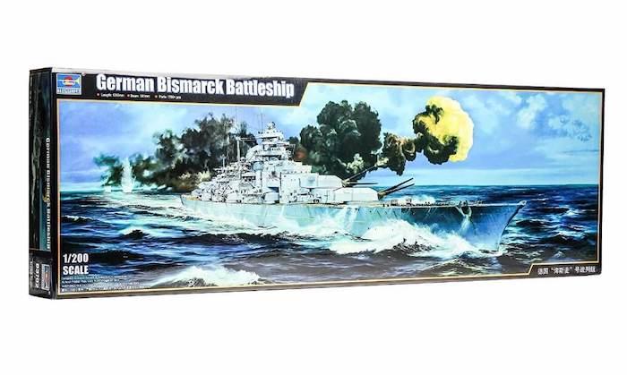 โมเดลเรือรบ 03702 Trumpeter Bismarck 1/200
