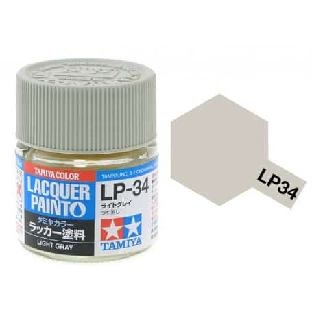 สีทามิย่า LP34 TAMIYA LACQUER PAINT LIGHT GRAY (10ML)