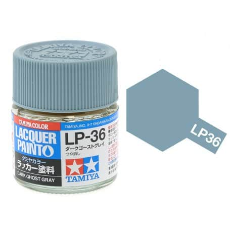 สีทามิย่า LP36 TAMIYA LACQUER PAINT DARK GHOST GRAY (10ML)