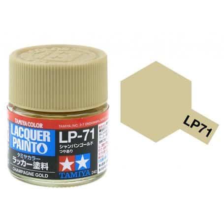 สีทามิย่า LP71 TAMIYA LACQUER PAINT CHAMPAGNE GOLD (10ML)