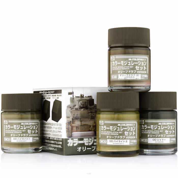 ชุดสีพิเศษ CS581 Mr.Hobby Color Modulation Set Olive Drab (U.S.A. WW 2)