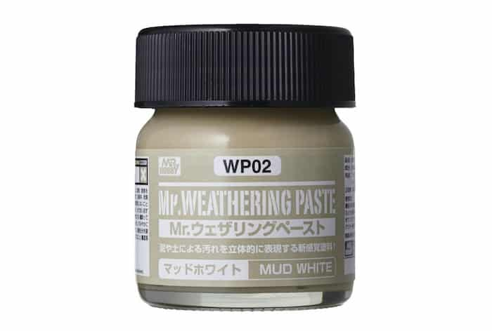 โคลนสีขาว WP02 Mr. WEATHERING PASTE MUD WHITE