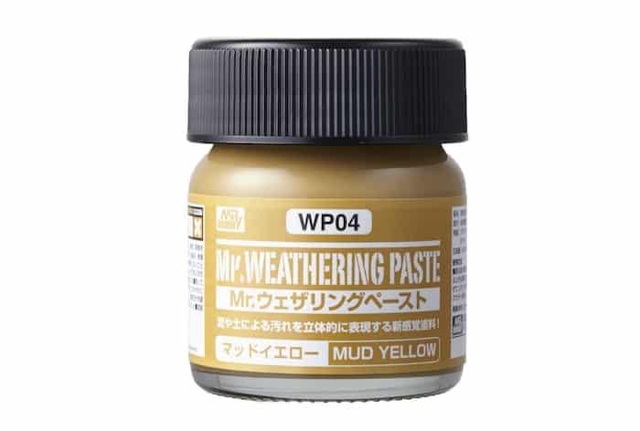 โคลนสีเหลือง WP04 Mr.WEATHERING PASTE MUD YELLOW