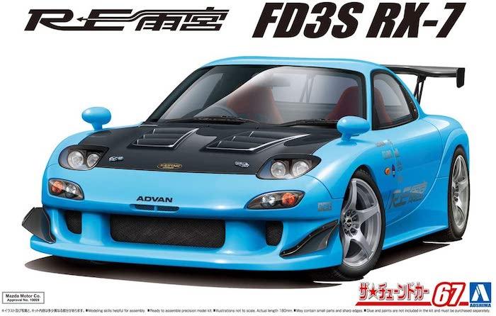 รถอาโอชิม่า AOSHIMA RE AMEMIYA FD3S RX-7 99 1/24
