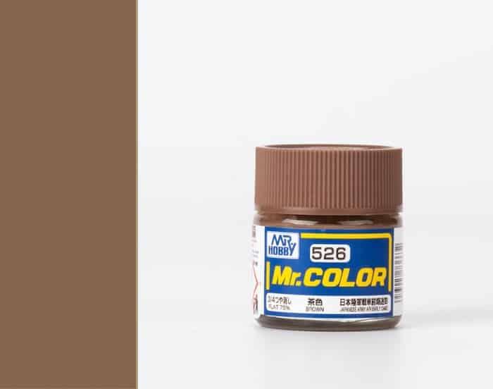 สีสูตรทินเนอร์ MR.COLOR C526 BROWN 10ML