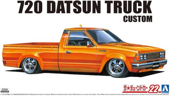 รถกระบะอาโอชิม่า AOSHIMA DATSUN TRUCK CUSTOM 82 1/24