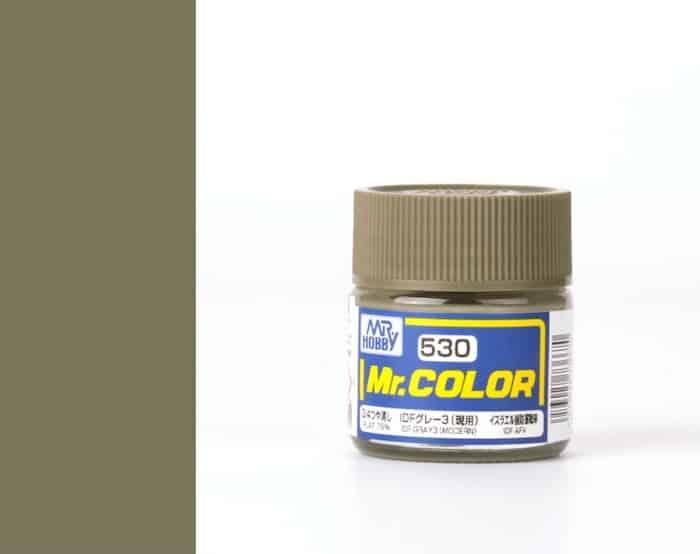 สีสูตรทินเนอร์ MR.COLOR C530 IDF Gray 3 (Modern) 10ML