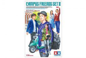 โมเดลแคมปัส TAMIYA 24356 CAMPUS FRIENDS SET II 1/24