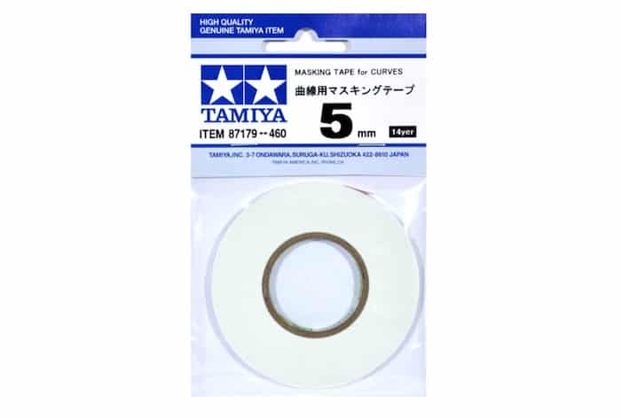 เทปบังพ่นสี เส้นโค้ง Masking Tape for Curves 5mm