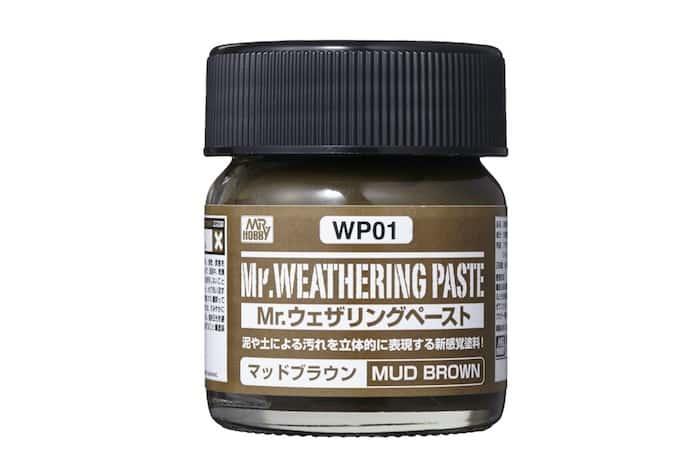 โคลนสีน้ำตาล WP01 Mr.WEATHERING PASTE MUD BROWN