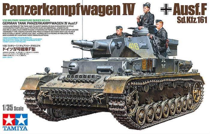 รถถังทามิย่า TAMIYA 35374 PANZERKAMPFWAGEN IV Ausf.F 1/35