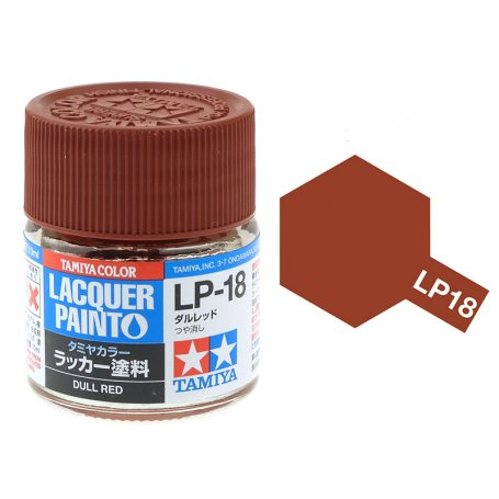 สีทามิย่า LP18 TAMIYA LACQUER PAINT DULL RED (10ML)