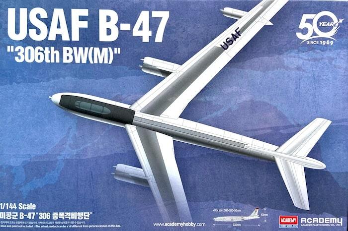 เครื่องบิน ACADEMY 12618 USAF B-47 306th BW(M) 1/144