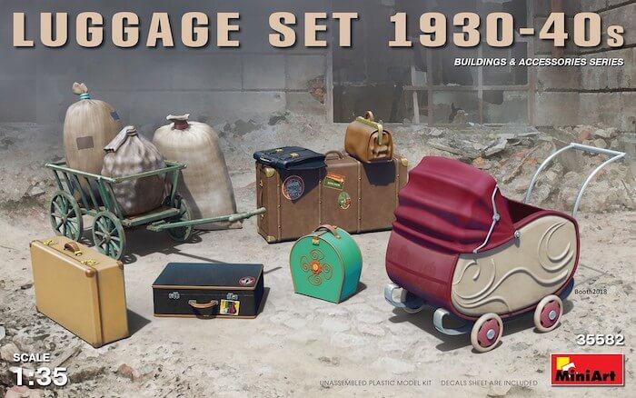 โมเดลสัมภาระ MINIART 35582 LUGGAGE SET 1930-40S 1/35