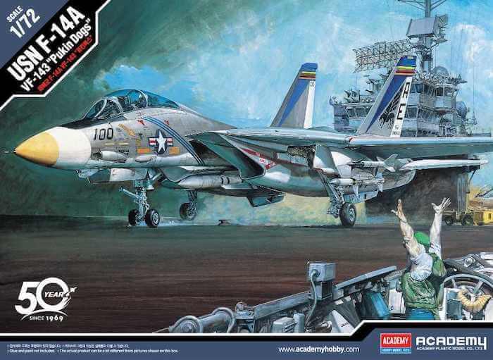 เครื่องบิน ACADEMY 12563 USN F-14A VF-143 PUKIN DOGS 1/72
