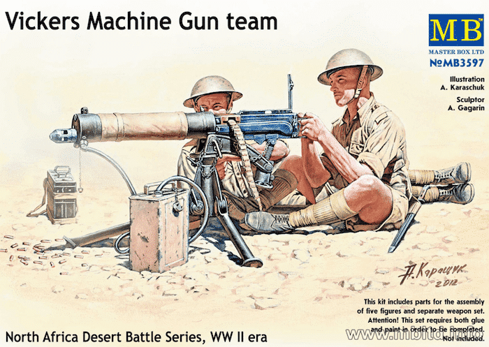 ฟิกเกอร์ MB 3597 Vickers Machine Gun team 1/35