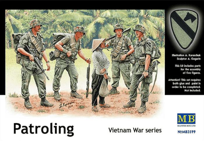 ฟิกเกอร์ MB 3599 Patroling Vietnam War series 1/35