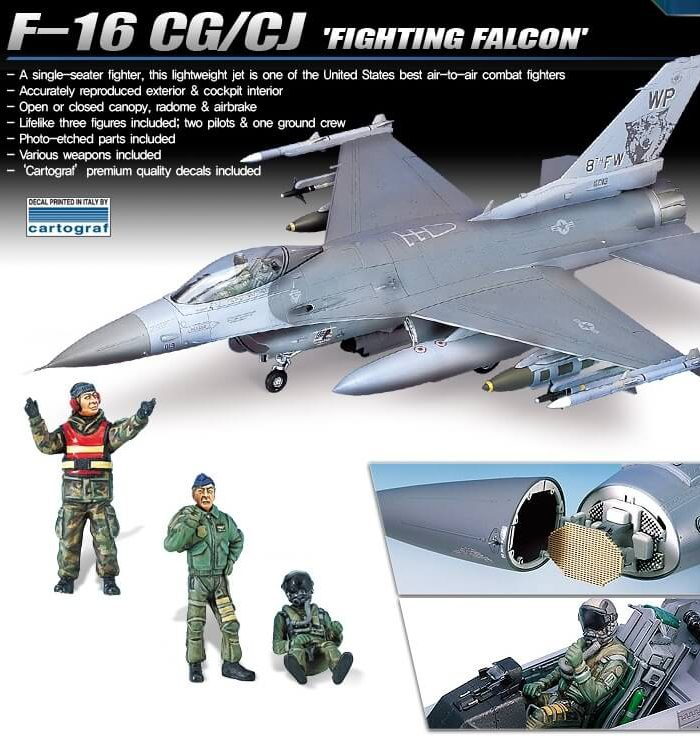 เครื่องบิน Academy AC12123 F-16CG/CJ Fighting Falcon 1/32