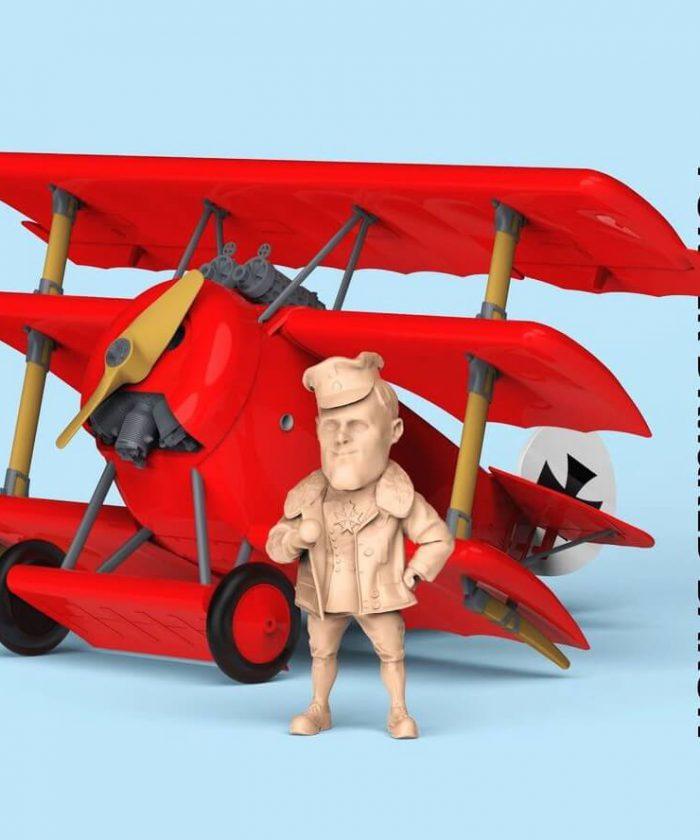 โมเดลเครื่องบิน SUYATA Fokker Dr.1 & Red Baron