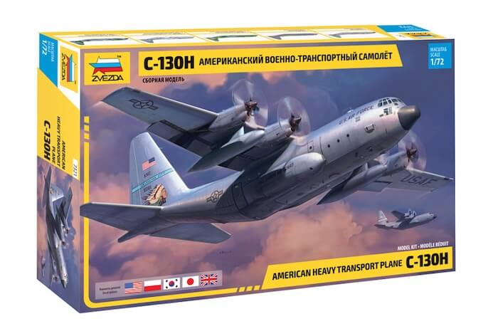 เครื่องบินลำเลียง Zvezda 7321 Lockheed C-130H Hercules 1/72