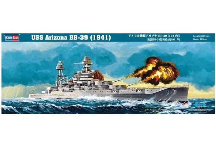 โมเดลเรือประจัญบาน Hobbyboss HB86501 USS Arizona BB-39 (1941) 1/350