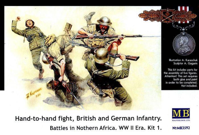MB3592 Hand-to-Hand Fight British & German Infantry Battles