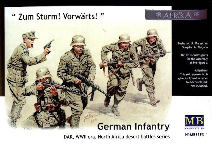 MB3593 German Infantry DAK Africa North Africa Desert Battles
