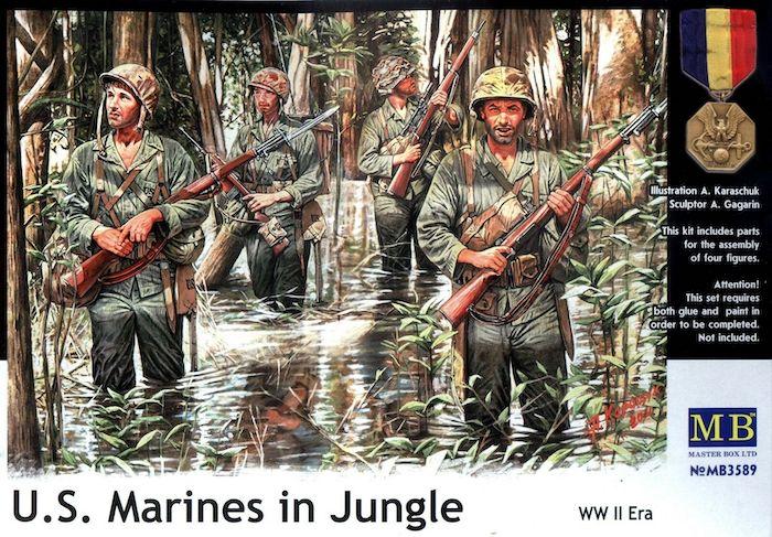 MB3589 US Marines in Jungle (Pacific War) WWII Era