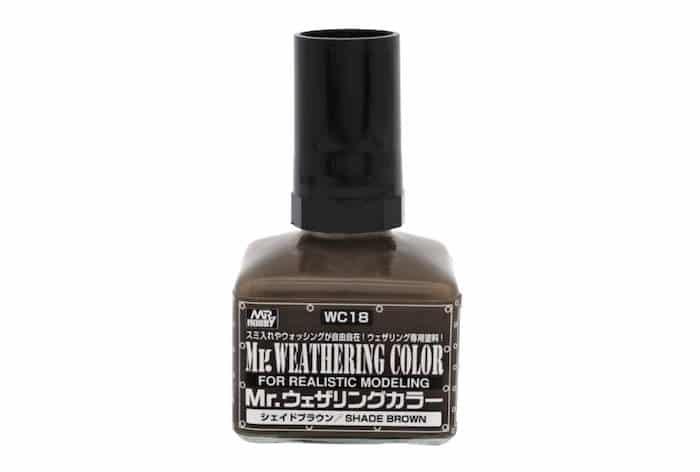 สีเฉดน้ำตาล Mr.WEATHERING SHADE BROWN WC18