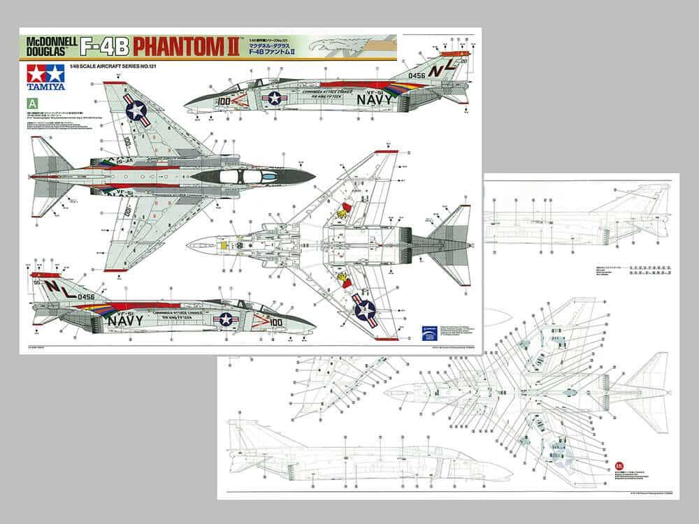 เครื่องบินทามิย่า 61121 F-4B PHANTOM II TM 1/48