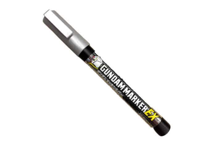 ปากกาสีโครเมียมเทพ XGM100 Gundam Marker EX Gundam Plated Silver