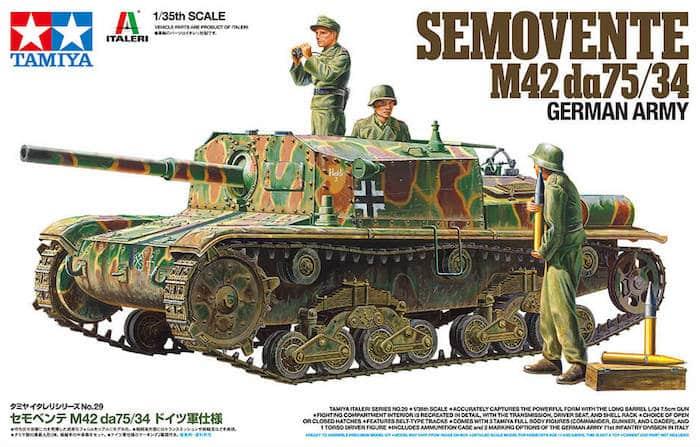 รถถังทามิย่า TA37029 SEMOVENTE M42 DA75/34 1/35